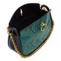 Leighton Python Small Shoulder Bag, ${color}
