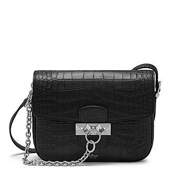 Keeley Satchel Matte Croc Bag