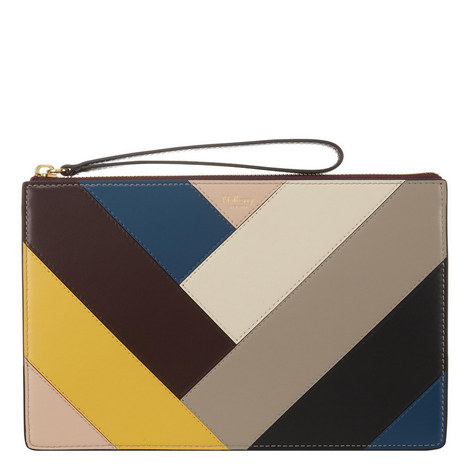 Chevron Leather Pouch, ${color}