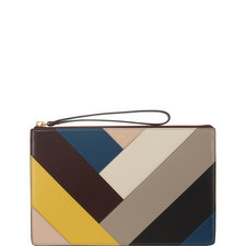 Chevron Leather Pouch