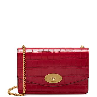 Darley Small Croc Crossbody Bag