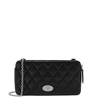 Manhattan Quilted Chained Wallet