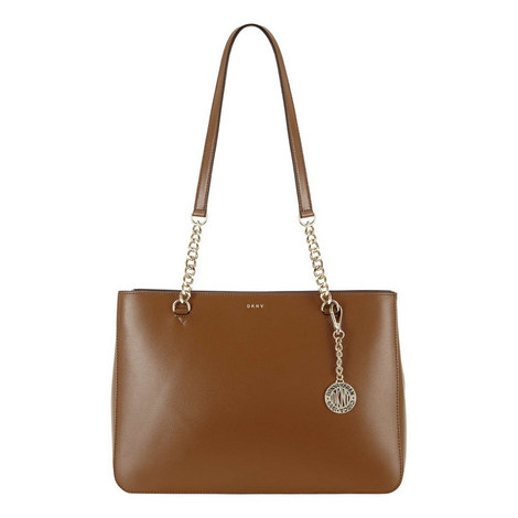 Sutton Large Chain Shopper Bag, ${color}