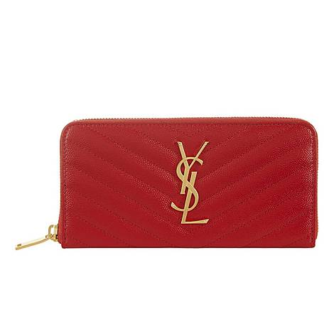 Monogram Zip-Around Wallet, ${color}