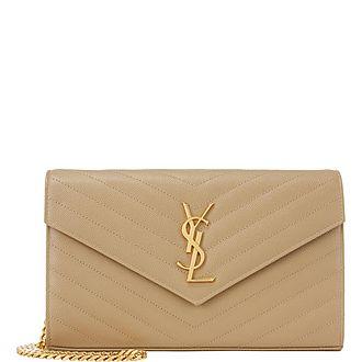 Quilted Monogram Wallet Crossbody Bag