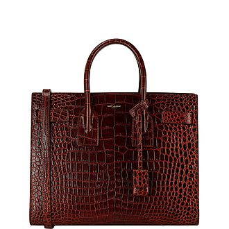 Croc Embossed Small Sac De Jour