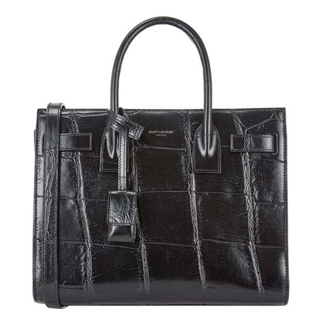 Croc Embossed Small Sac De Jour Tote, ${color}