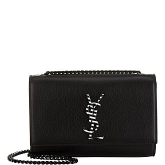 Kate Striped Monogram Small Crossbody Bag