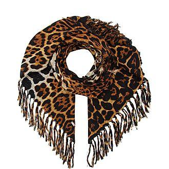 Leopard Fringe Scarf