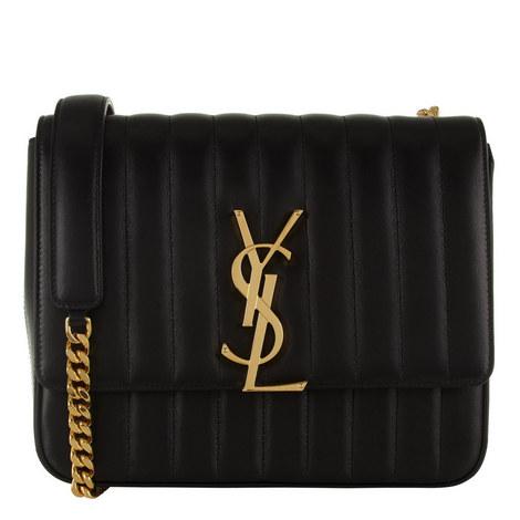 Monogram Vicky Large Leather Bag, ${color}