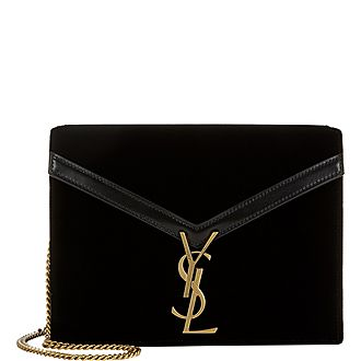 Cassandra Velvet Medium Shoulder Bag