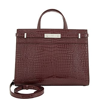 Manhattan Croco Small Satchel