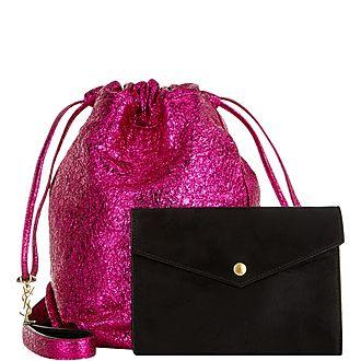 Teddy Metallic Bucket Bag