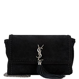 Suede Kate Tassel Shoulder Bag