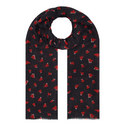 Heart Print Cashmere Scarf, ${color}