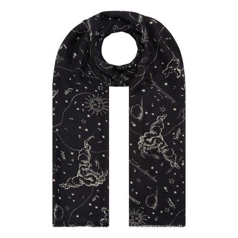 Astrology Silk Scarf, ${color}