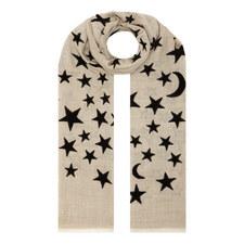Velvet Star Print Pattern Scarf