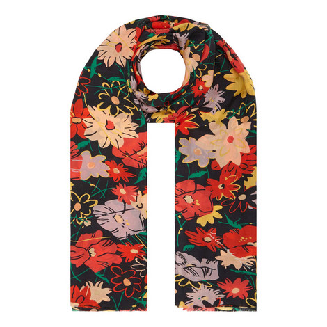 Midnight Floral Scarf, ${color}