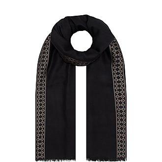 4G Wool Silk Scarf