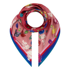 Floral Butterfly Square Scarf