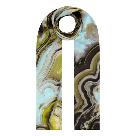 Turquoise Silk Wrap Scarf, ${color}