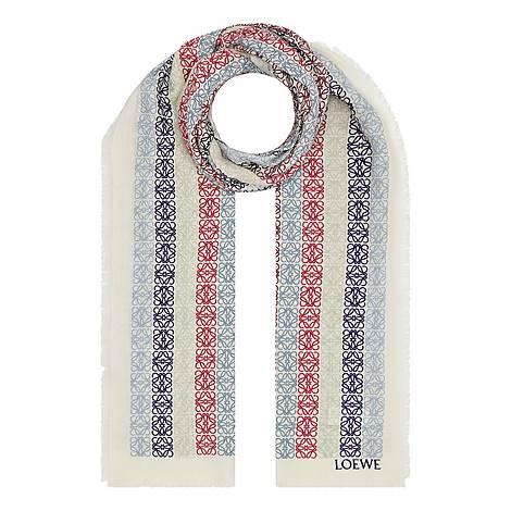 Anagram Pattern Wool Scarf, ${color}