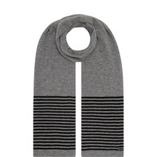 Striped Detail Cashmere Scarf
