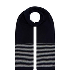 Cashmere Striped Detail Scarf