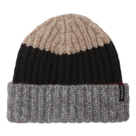 Colour Block Beanie Hat, ${color}