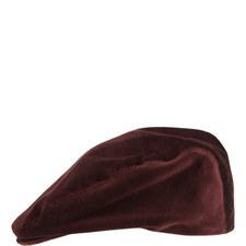 Velvet Flat Cap