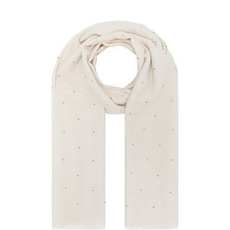 Silk Studded Scarf