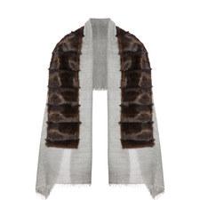 Textured Faux Fur Scarf