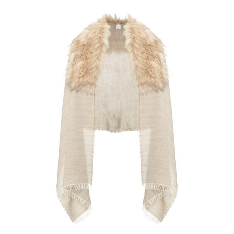 Long Haired Faux Fur Scarf, ${color}