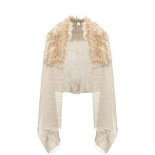 Long Haired Faux Fur Scarf