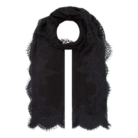 Crystal and Lace Evening Scarf, ${color}