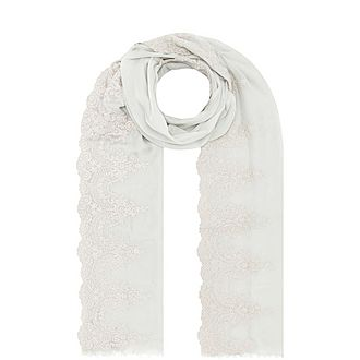Crystal and Lace Evening Scarf