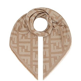 Tonal Wool Cashmere Scarf
