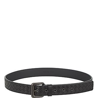 Intrecciato Leather Belt