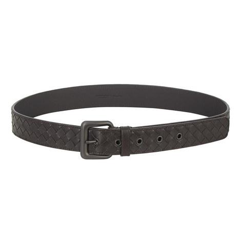 Intrecciato Leather Belt, ${color}