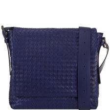 Intrecciato Flap Messenger Bag