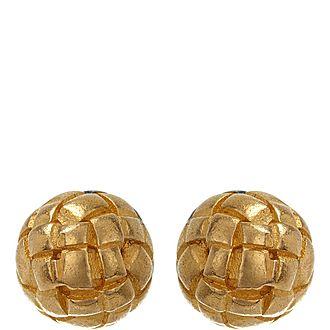 Textured Sphere Stud Earrings