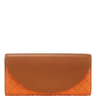 Intrecciato Flap Wallet