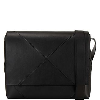 Maxi Weave Messenger Bag
