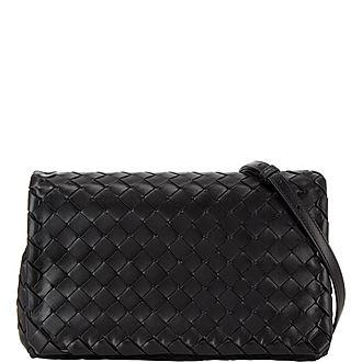 Intrecciato Large Flap Shoulder Bag