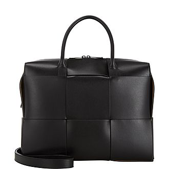 Large Intrecciato Weave Briefcase