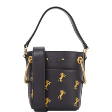 Roy Embroidered Horse Bucket Bag