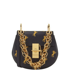 Drew Bijou Embroidered Horse Shoulder Bag