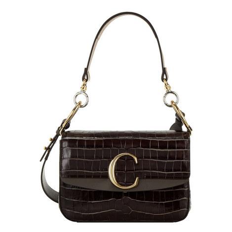 C Small Croc Shoulder Bag, ${color}