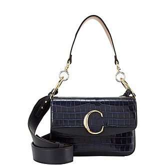 C Small Shoulder Croc Bag
