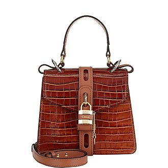 Aby Small Crocodile Embossed Shoulder Bag